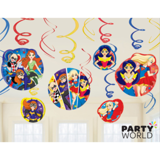 Super Hero Girls Swirl Decorations (12)