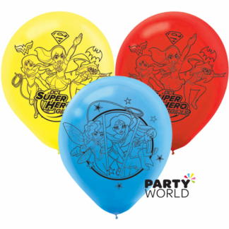 Super Hero Girls Latex Balloons (6)