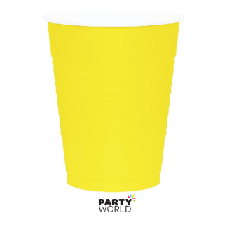 Bright Yellow Plastic Cups (10)