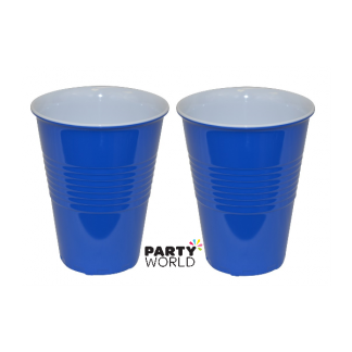 Royal Blue Plastic Cups (10) 500ml