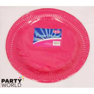 Solid Fuchsia Paper Plates 9in (8)