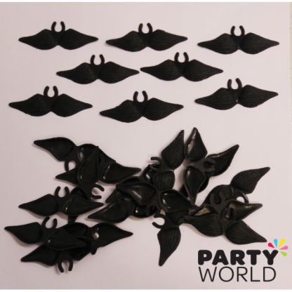 Mini Plastic Mustaches (24)