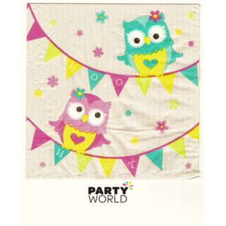 Hoot Owls Luncheon Napkins (20)