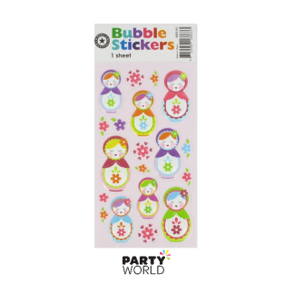 Babushka / Russian Dolls Bubble Stickers