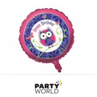 Owl Pal Birthday Foil Balloon 18in