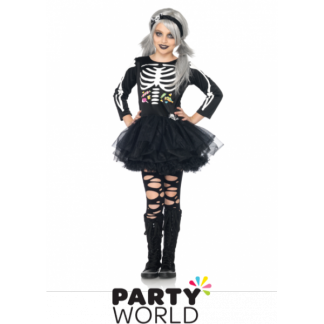 Girls Skeleton Costume (size M)