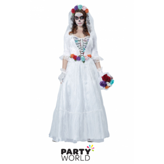 Day of the Dead Bride Costume - White (size S)