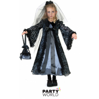 Kids Zombie Bride Costume (size L)