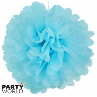 15in Puff Balls - Light Blue (2)