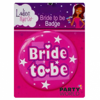 Bride To Be Badge Pink 10cm