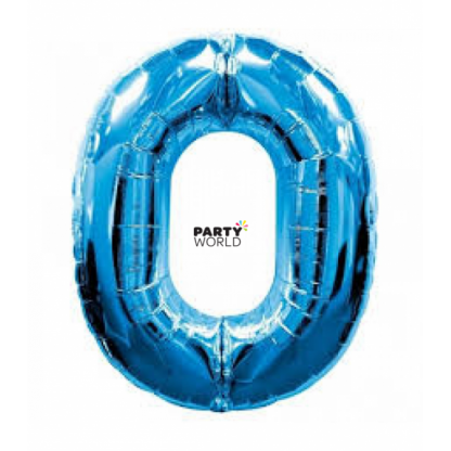 Giant Blue Foil Number Balloon - 0