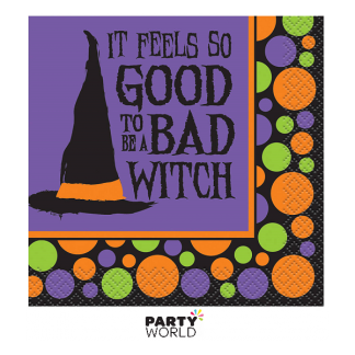 Bad Witch Halloween Beverage Napkins (16)