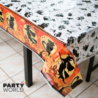 Spooky Hollow Plastic Tablecover