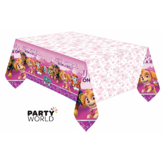 Paw Patrol Girls Plastic Tablecover
