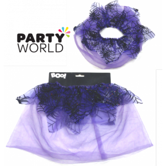 Purple Spiderweb Tutu