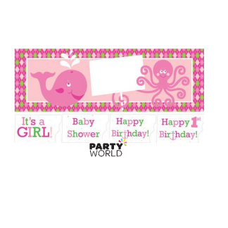 Ocean Preppy Girl Giant Party Banner