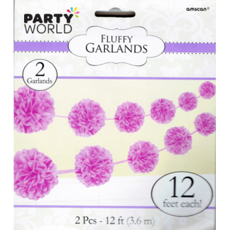 Lavender Fluffy Garlands 3.6m (2)