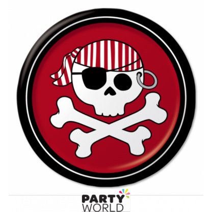 Pirate Red 7in Paper Plates (8)