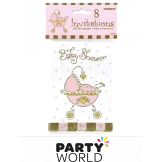Baby Joy Pink Invitations (8)