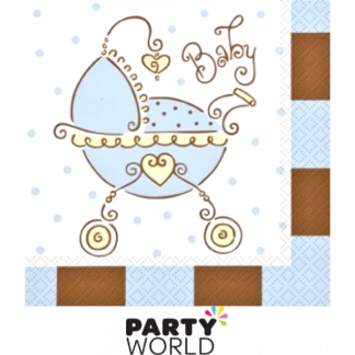Baby Joy Blue Luncheon Napkins (16)
