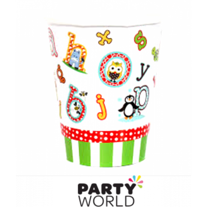 Alphabet Animal Paper Cups (8)
