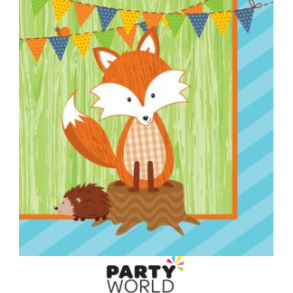 Forest Fox and Hedgehog Luncheon Napkins (16)