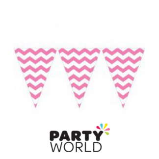 Candy Pink Bunting Flag Banner