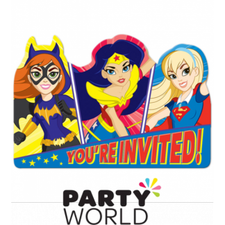 Super Hero Girls Party Invitations (8)