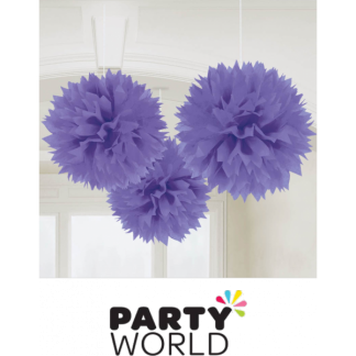 Lavender Fluffy Decoration (3)