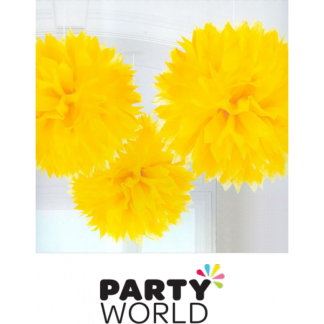 Yellow Fluffy Decorations(3)