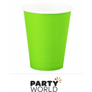 Lime Green Paper Cups (8)