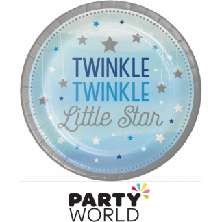 One Little Star Boy - Twinkle Paper Plates 9in (8)