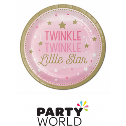One Little Star Girl - Twinkle Paper Plates 7in (8)