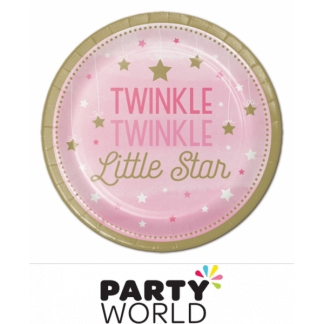 One Little Star Girl - Twinkle Paper Plates 9in (8)