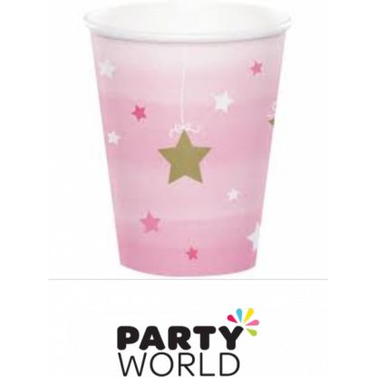One Little Star Girl - Twinkle Paper Cups (8)