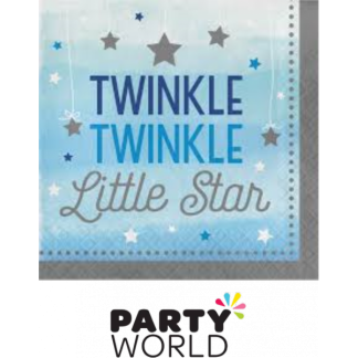 Blue - Twinkle Little Star Luncheon Napkins (16)