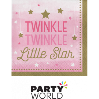 One Little Star Girl- Twinkle Luncheon Napkins (16)