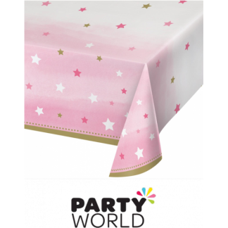 One Little Star Girl - Twinkle Plastic Table cover