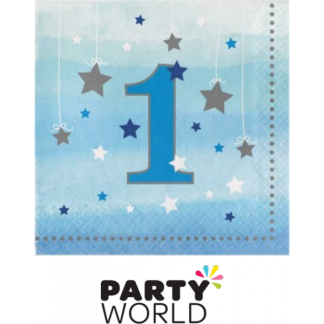 One Little Star Boy Beverage Napkins (16)