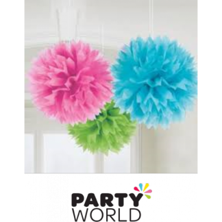 Multicoloured Fluffy Decorations (3)