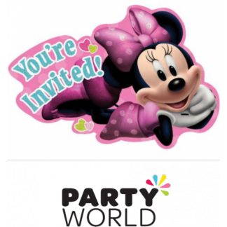 Minnie Mouse Birthday Invitations (8)