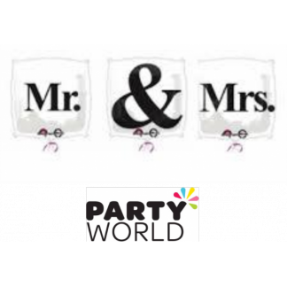 Mr. & Mrs. Foil Balloons (3)