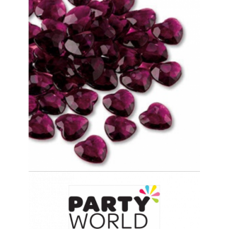 Diamantes Wedding Hearts - Dark Purple