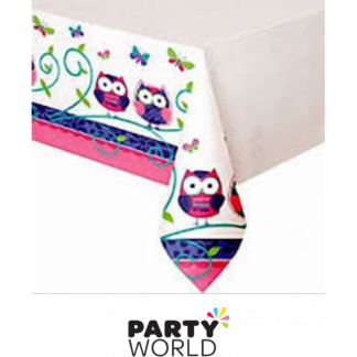 Owl Pal Birthday Table Cover
