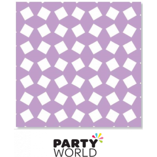 Party Napkins Printed - Light Purple (20)