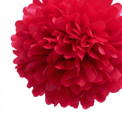 16in Puff Balls - Red (3)