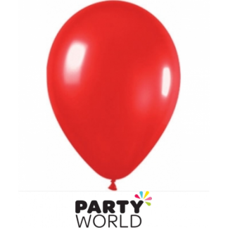 Bright Red Balloons (20) 30cm