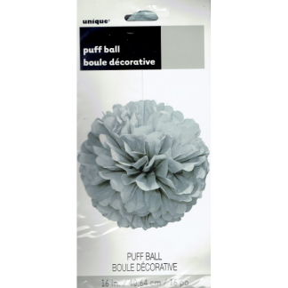 16in Puff Ball - Silver