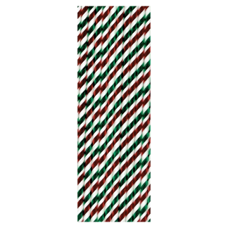 Paper Straws Striped - Red, White and Green (25)