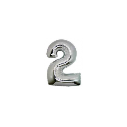 Giant Silver Foil Number Balloon - 2